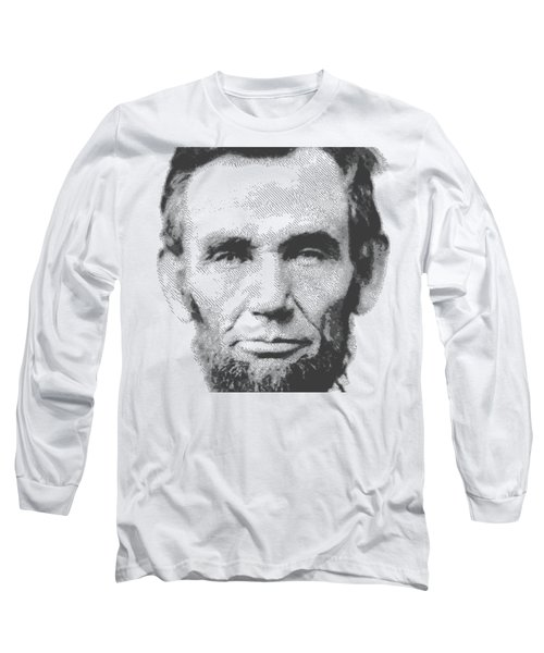 Abraham Lincoln - Parallel Hatching Long Sleeve T-Shirt