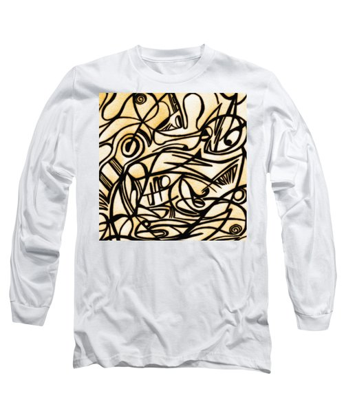 Abstract Art Gold 2 Long Sleeve T-Shirt
