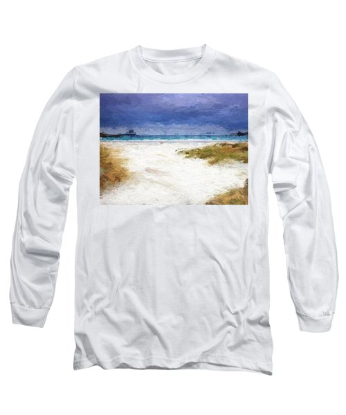 Abstract Beach Horizon Long Sleeve T-Shirt by Anthony Fishburne