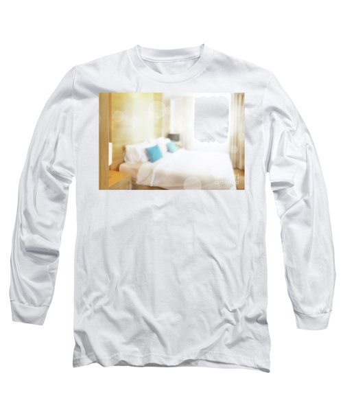 Long Sleeve T-Shirt featuring the photograph Abstract Bedroom by Atiketta Sangasaeng