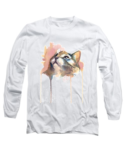 Abstract Cat Portrait Series #02 Long Sleeve T-Shirt