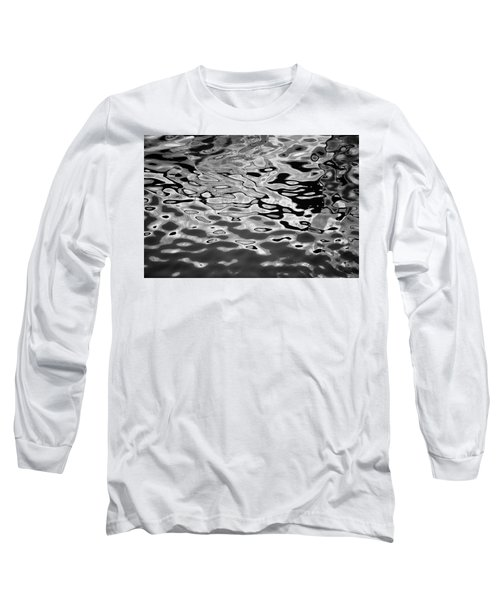 Abstract Dock Reflections I Bw Long Sleeve T-Shirt