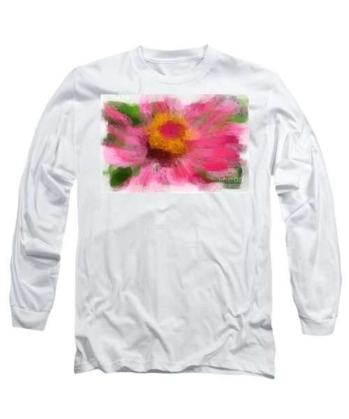 Abstract Flower Expressions Long Sleeve T-Shirt