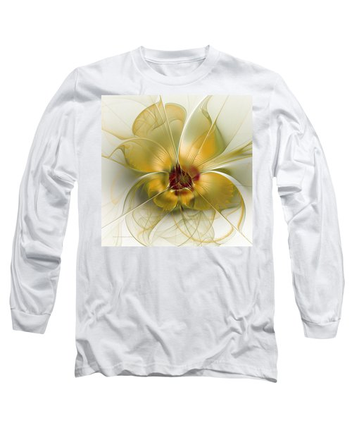 Abstract Flower With Silky Elegance Long Sleeve T-Shirt