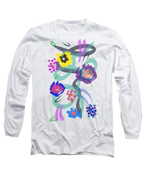Abstract Garden Nr 4 Long Sleeve T-Shirt