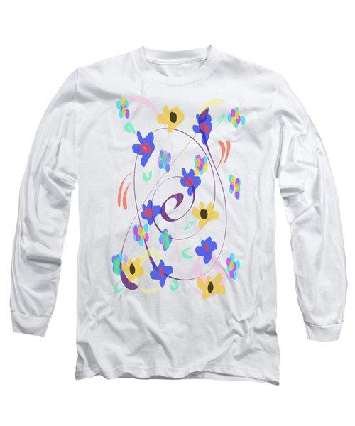Abstract Garden Nr 7 Naif Style Long Sleeve T-Shirt