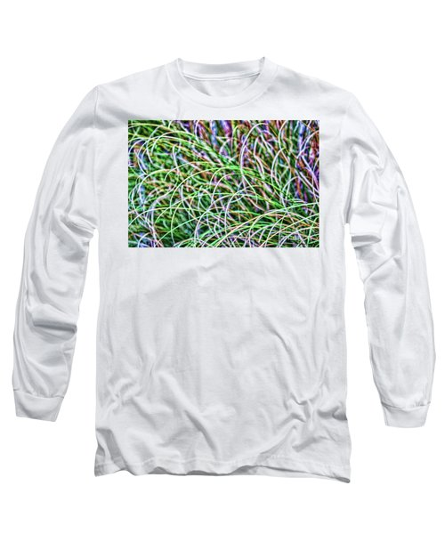 Abstract Grass Long Sleeve T-Shirt by Roberta Byram