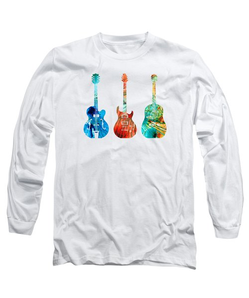 Abstract Guitars By Sharon Cummings Long Sleeve T-Shirt