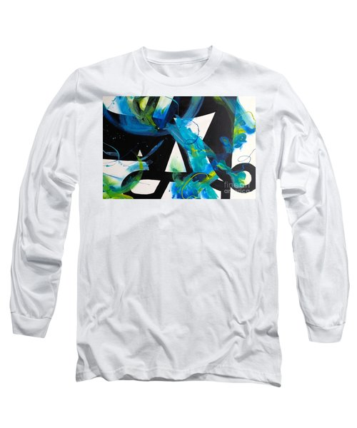 Study In Blue I Long Sleeve T-Shirt