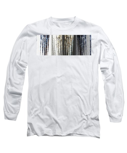 Long Sleeve T-Shirt featuring the digital art Abstract Icicles by Will Borden