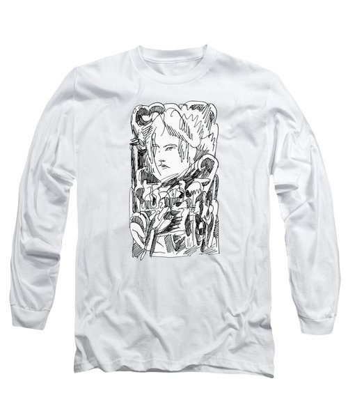 Abstract Ink Drawing Long Sleeve T-Shirt