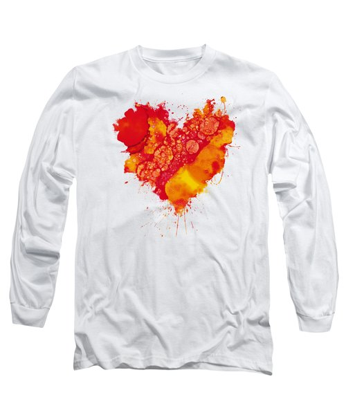 Long Sleeve T-Shirt featuring the painting Abstract Intensity by Nikki Marie Smith