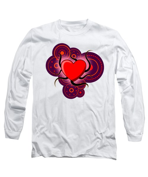 Abstract Love Long Sleeve T-Shirt by Martin Capek