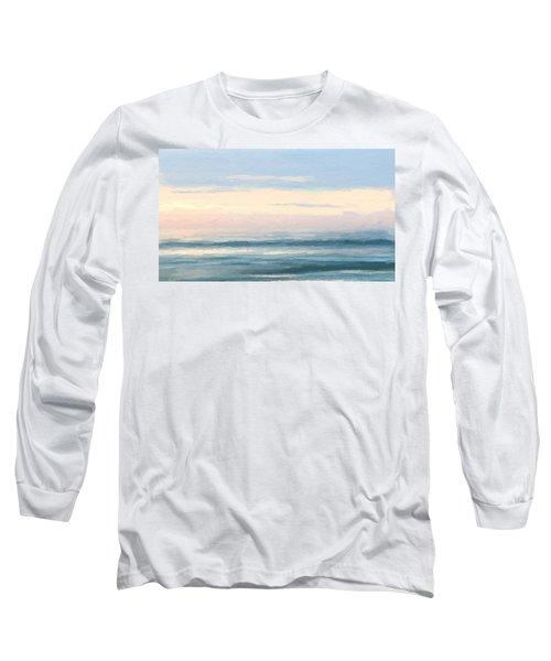 Abstract Morning Sea Long Sleeve T-Shirt