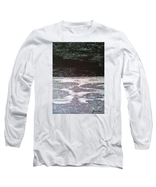Long Sleeve T-Shirt featuring the painting Abstract Nail Polish Jg7 by Jasna Gopic