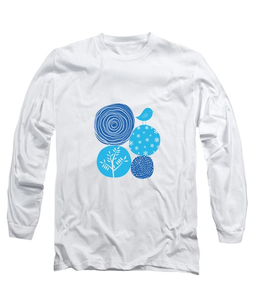 Abstract Nature Blue Long Sleeve T-Shirt