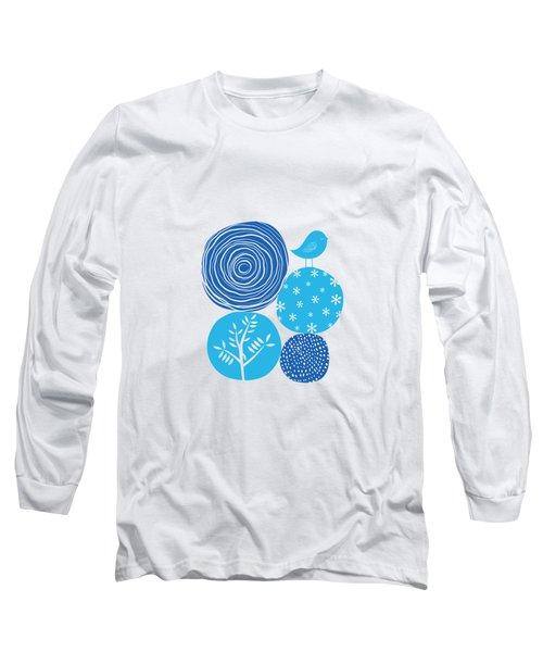 Abstract Nature Blue Long Sleeve T-Shirt