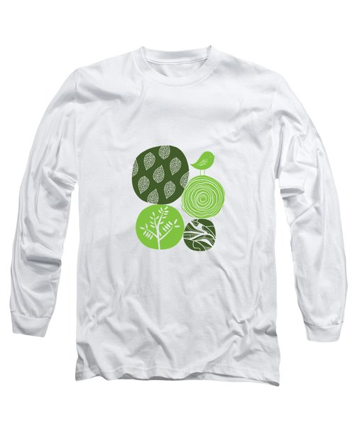 Abstract Nature Green Long Sleeve T-Shirt