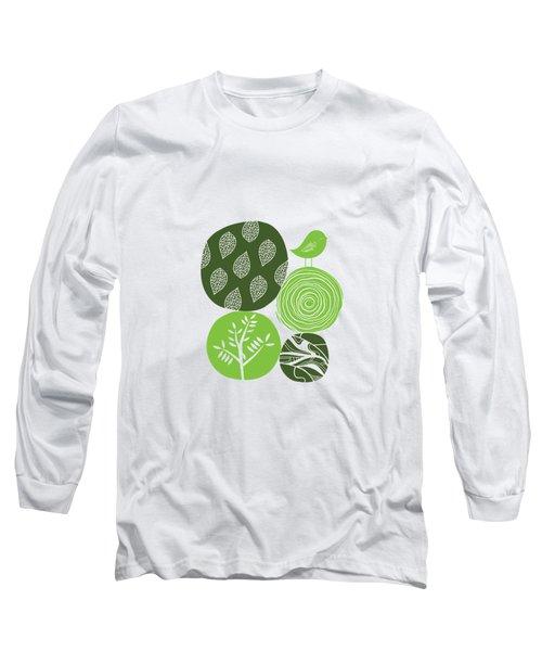 Abstract Nature Green Long Sleeve T-Shirt