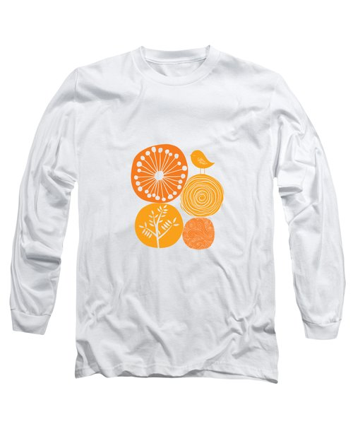 Abstract Nature Orange Long Sleeve T-Shirt