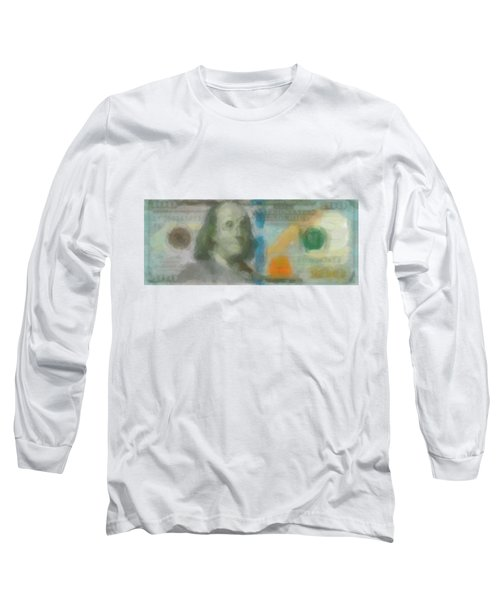 Abstract One Hundred Us Dollar Bill  Long Sleeve T-Shirt