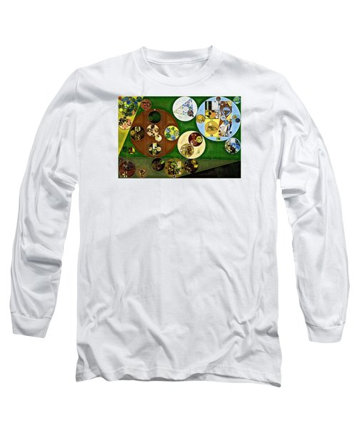 Long Sleeve T-Shirt featuring the digital art Abstract Painting - Black Forest by Vitaliy Gladkiy