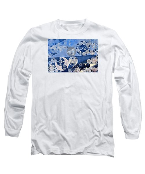 Abstract Painting - Blue Whale Long Sleeve T-Shirt