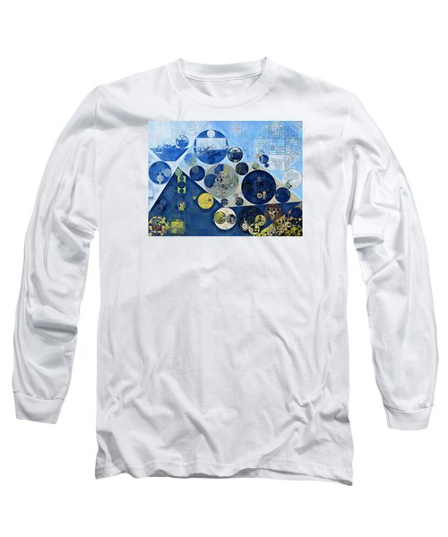 Abstract Painting - Kashmir Blue Long Sleeve T-Shirt