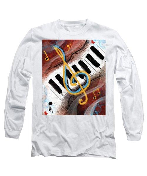 Abstract Piano Concert Long Sleeve T-Shirt