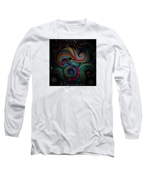 Long Sleeve T-Shirt featuring the pastel Abstract by Sheila Mcdonald