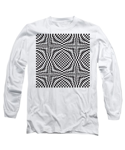 Abstract Vector Pattern Long Sleeve T-Shirt by Michal Boubin
