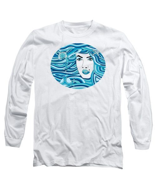 Abstract Water Element Long Sleeve T-Shirt by Serena King