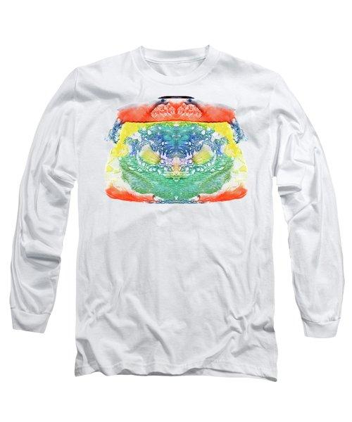 Abstract Watercolors Splatters, Splinter, Blotches, Blots And Bl Long Sleeve T-Shirt