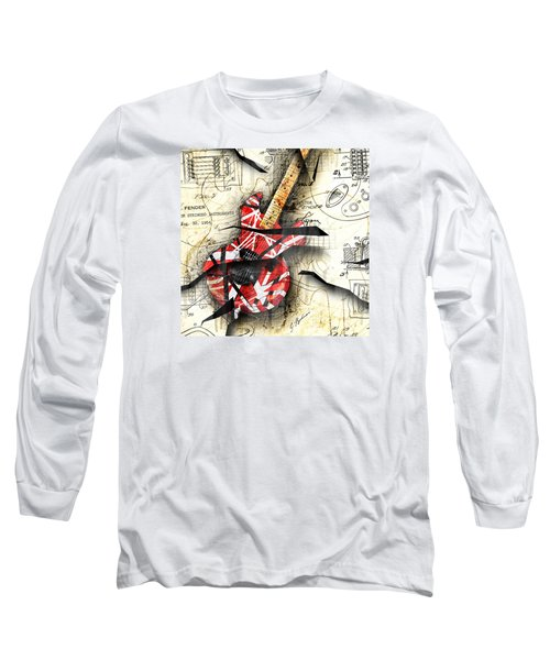 Abstracta 35 Eddie's Guitar Long Sleeve T-Shirt by Gary Bodnar