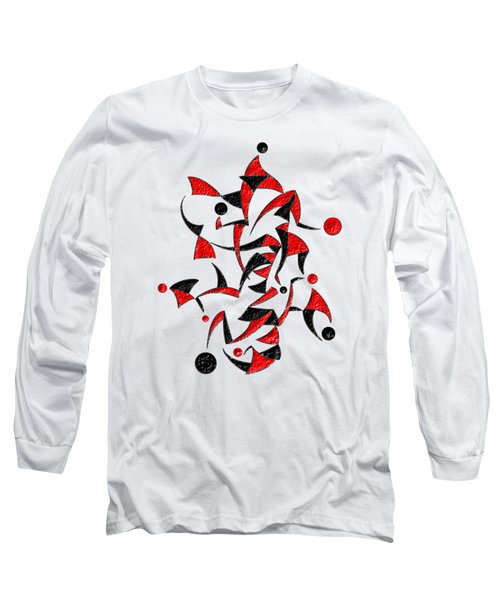 Abugila V6 - Digital Abstract Long Sleeve T-Shirt by Cersatti