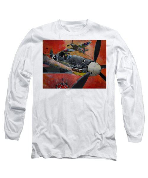 Ace Of Spades Long Sleeve T-Shirt by Ray Agius