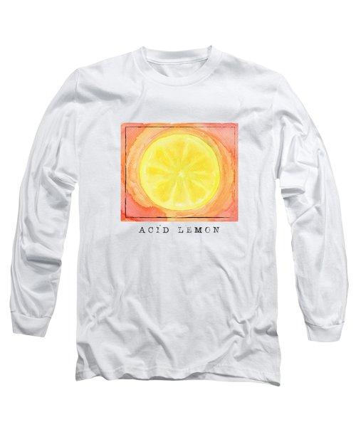 Acid Lemon Long Sleeve T-Shirt by Kathleen Wong