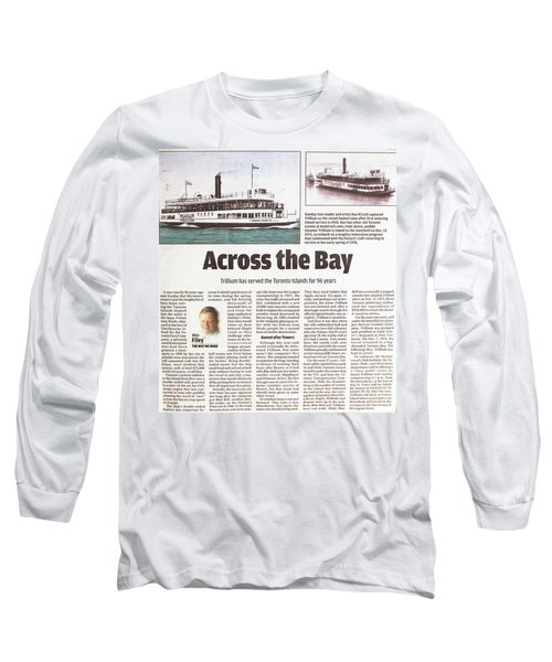 Long Sleeve T-Shirt featuring the painting Toronto Sun Article Across The Bay by Kenneth M Kirsch