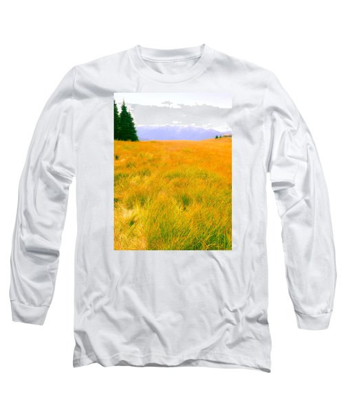 Long Sleeve T-Shirt featuring the photograph Across The Summer Meadow by Ronda Broatch