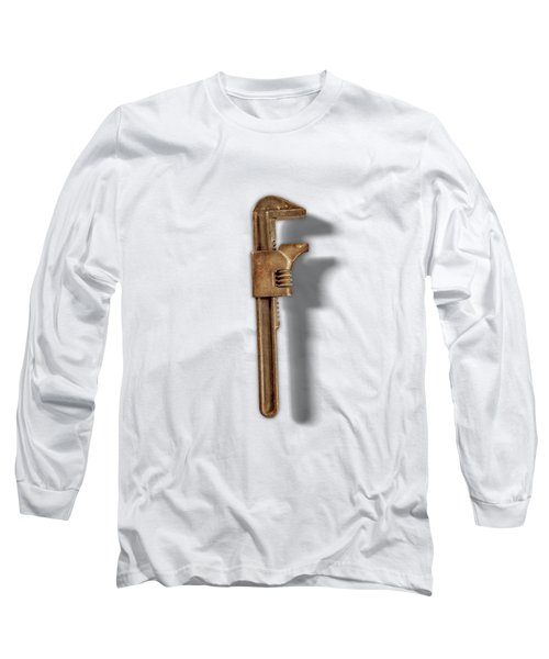 Adjustable Wrench Back On Color Paper Long Sleeve T-Shirt