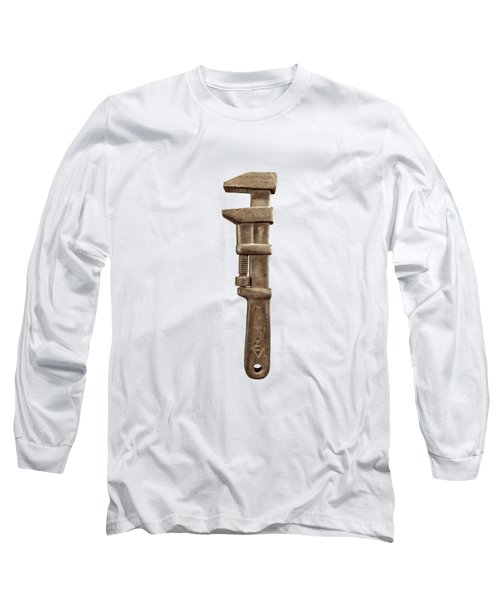 Adjustable Wrench Left Face Long Sleeve T-Shirt