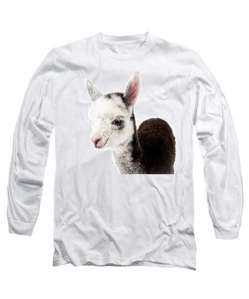 Adorable Baby Alpaca Cuteness Long Sleeve T-Shirt by TC Morgan