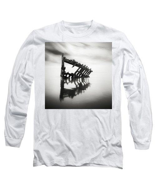 Adrift At Sea Monochromatic Square Long Sleeve T-Shirt