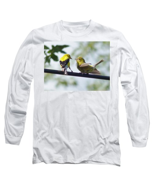 Adult And Juvenile Goldfinch Long Sleeve T-Shirt