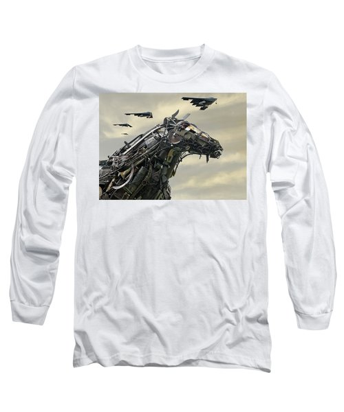 Advance Of The Machines Long Sleeve T-Shirt by Christopher McKenzie