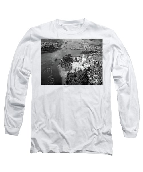 Aerial View Northward Over Olympia Long Sleeve T-Shirt