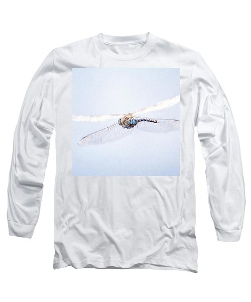 Aeshna Juncea - Common Hawker In Long Sleeve T-Shirt by John Edwards