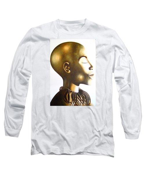 African Elegance Sepia - Original Artwork Long Sleeve T-Shirt
