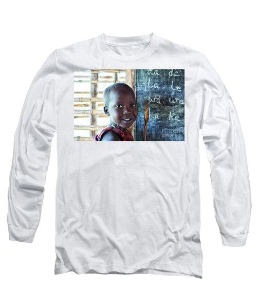 Maasai School Child Long Sleeve T-Shirt