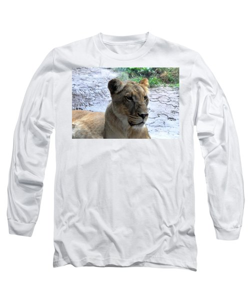 Long Sleeve T-Shirt featuring the photograph African Queen by John Black
